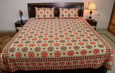 Prabha Creation Cotton Printed King sized Double Bedsheet