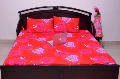 VIPL Polycotton Printed Double Bedsheet