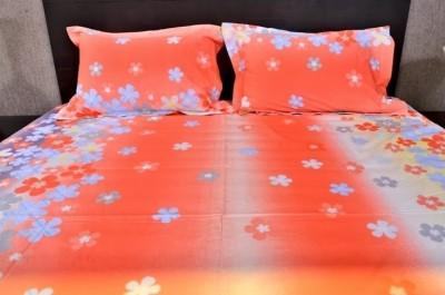 Banana Prints Cotton Floral Double Bedsheet