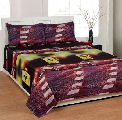 Shivalik Polycotton Abstract Double Bedsheet
