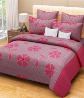 shop24decor Cotton Printed Double Bedsheet(1 Double Bed Sheet, 2 Pillow Covers, Pink) best price on Flipkart @ Rs. 599
