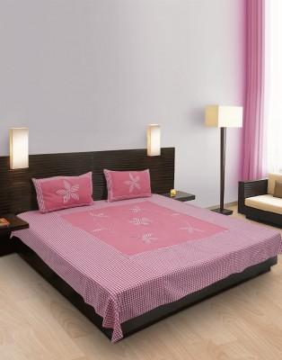eSOUL Cotton Floral Double Bedsheet