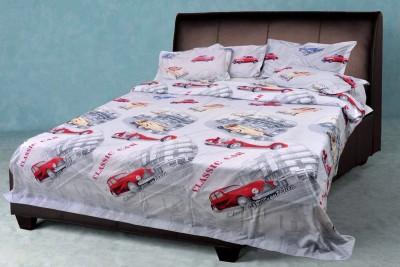 Brabuon Cotton Text Print Double Bedsheet