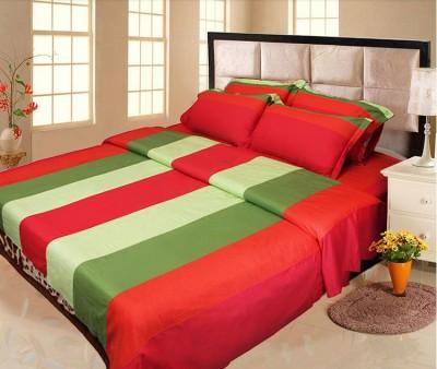 Lullabies Cotton Striped Double Bedsheet