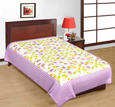 Navya Creations Cotton Printed Single Bedsheet