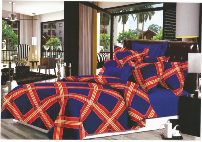 Exotic Cotton Checkered Double Bedsheet