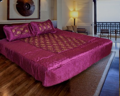 Home Shop Gift Satin Printed Double Bedsheet