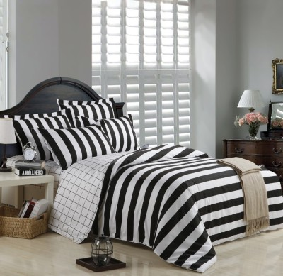 Spade Cotton Striped King sized Double Bedsheet