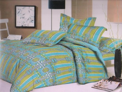 Ruhi Home Furnishing Cotton Abstract Double Bedsheet
