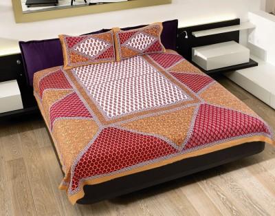 Rangasthali Cotton Checkered Double Bedsheet