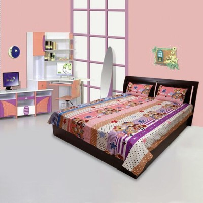 Comfortica Collections Cotton Polka Double Bedsheet