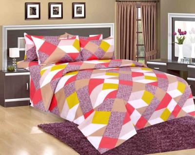 Salona Bichona Polycotton Abstract Double Bedsheet