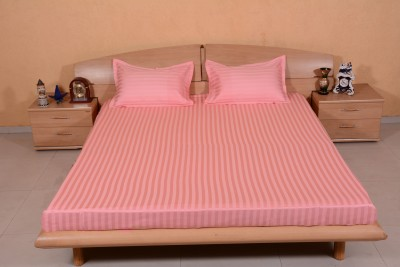 Ctm Textile Mills Satin Striped King sized Double Bedsheet
