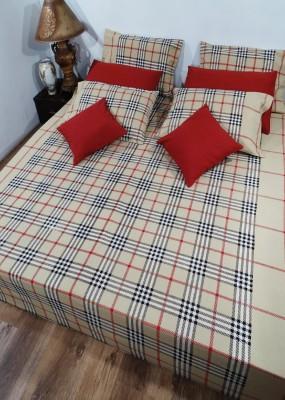 Heritagefabs Cotton Floral Queen sized Double Bedsheet
