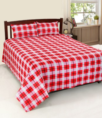 Sandhya Cotton Checkered Double Bedsheet