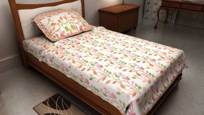The Home Ingredients Cotton Floral Single Bedsheet