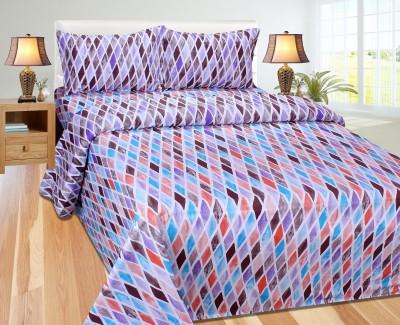 Zesture Cotton Geometric Double Bedsheet