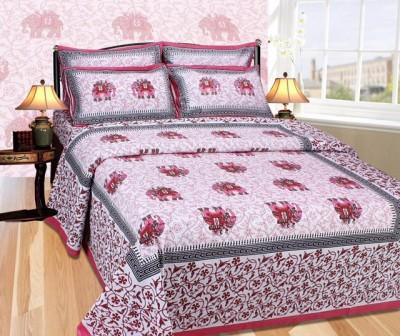 Brabuon Cotton Motifs Double Bedsheet