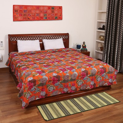 Pick Indiana Cotton Embroidered Double Bedsheet