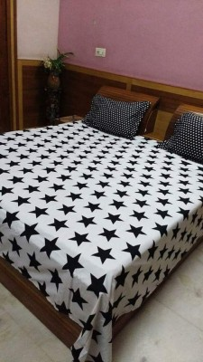 divine creations Cotton Geometric Double Bedsheet