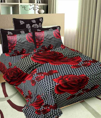 Aashiyana Sajona Cotton Floral Double Bedsheet