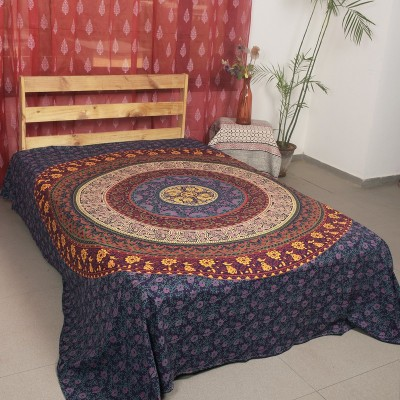 Ocean Home Store Cotton Floral Queen sized Double Bedsheet