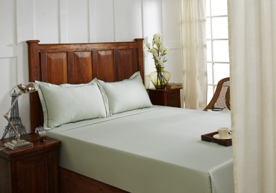 Fisher West NY Cotton Plain King sized Double Bedsheet