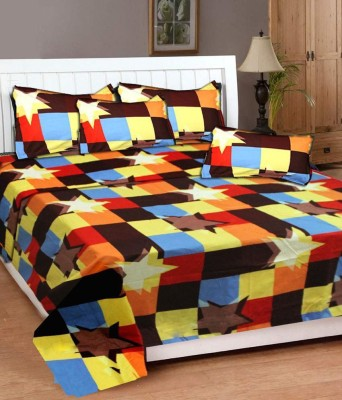 New Home Polycotton Abstract Double Bedsheet