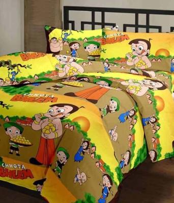Ruhi Home Furnishing Satin, Cotton Printed Single Bedsheet
