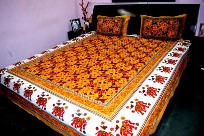 Rajasthani Decor Cotton Printed King sized Double Bedsheet