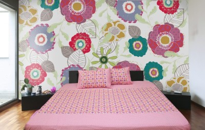 R home Cotton Printed Double Bedsheet