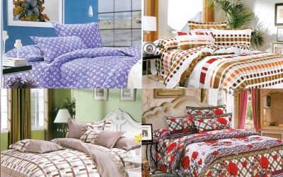 Fabhomes Polycotton Abstract Double Bedsheet