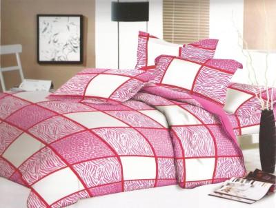 SHREEJEE Cotton Geometric Double Bedsheet