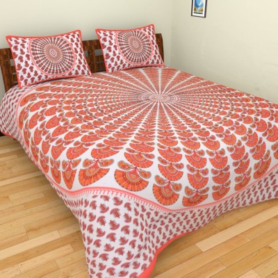 Spangle Cotton Printed Double Bedsheet