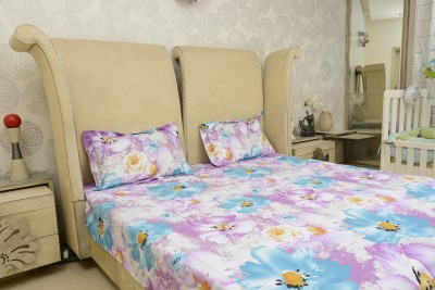 Sassoon Cotton Floral Double Bedsheet