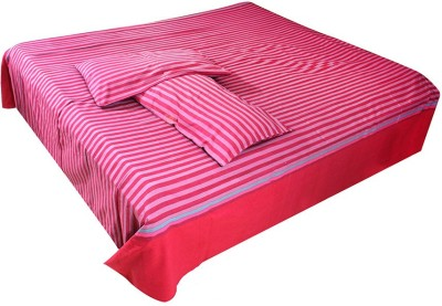 Dhrohar Cotton Striped Double Bedsheet