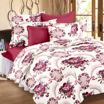 Bedspun Cotton Floral Double Bedsheet