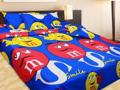 K Decor Cotton Cartoon Double Bedsheet