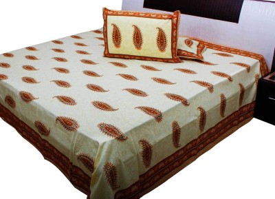 Halowishes Cotton Paisley Double Bedsheet