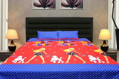 K Decor Cotton Abstract Double Bedsheet