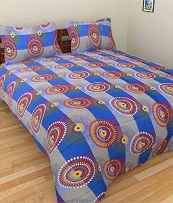 Ridhaan Polycotton Geometric Double Bedsheet