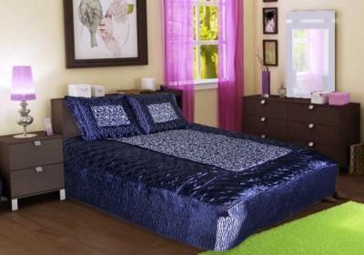 Ooltah Chashma Satin Printed Double Bedsheet