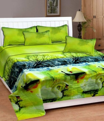 New Home Polycotton Printed Double Bedsheet