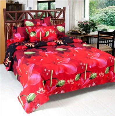 Wonder Home Collection Polyester Floral Double Bedsheet