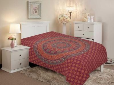 Salona Bichona Cotton Printed Single Bedsheet