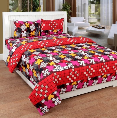 Bed & Bath Cotton Floral Queen sized Double Bedsheet