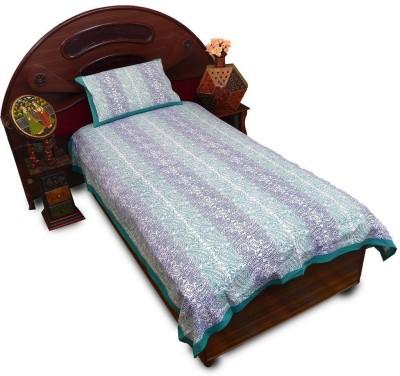 Little India Cotton Abstract Single Bedsheet