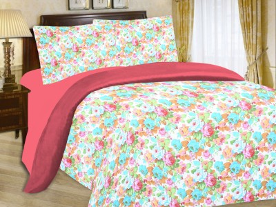 Enaakshi Cotton Floral King sized Double Bedsheet