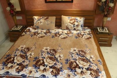 V-Tel Polyester Floral Double Bedsheet