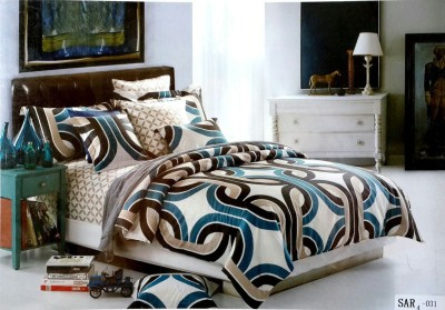 Solitaire Cotton Abstract King sized Double Bedsheet